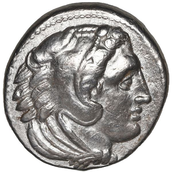 Kingdom of Macedon, AR drachm, Alexander III (the Great), 336-323 BC, lifetime issue, Antipater gov