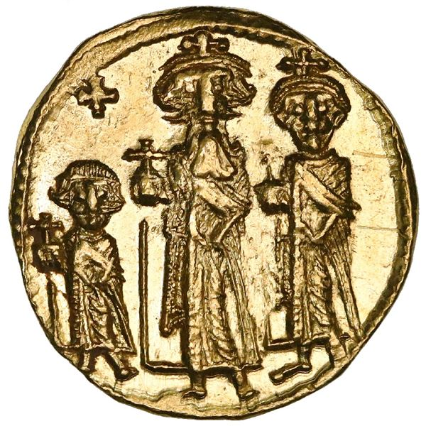 Byzantine Empire, AV solidus, Heraclius, 610-641 AD, Constantinople mint, NGC MS strike 5/5, surface