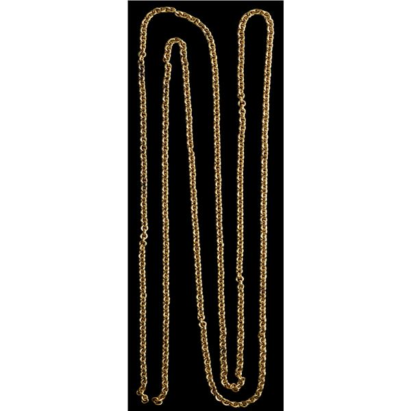 Gold chain of 628 solid links, 86.0 grams, ex-Atocha (1622).