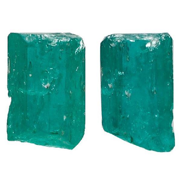 Small natural emerald, 0.58 carat, class 1B, ex-Atocha (1622).