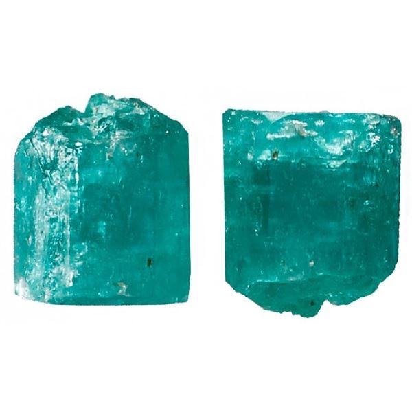 Small natural emerald, 0.6 carat, class 1B, ex-Atocha (1622).