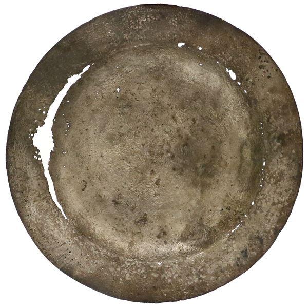 Small silver plate, ex-Atocha (1622).