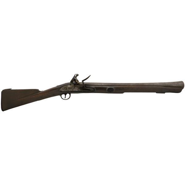 Large English flintlock blunderbuss swivel gun, late 1700s.