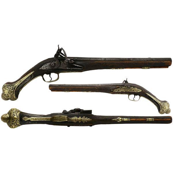 European flintlock pistol, 1700s.