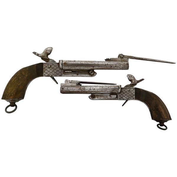 "European pinfire ""boot pistol,"" mid-1800s."