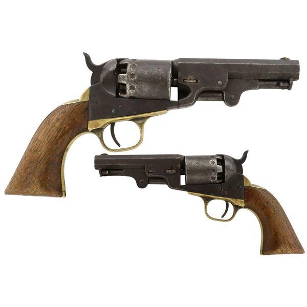 American naval percussion revolver, .36 caliber, marked  MANHATTAN FIRE ARMS CO. NEWARK N.J. / PATEN