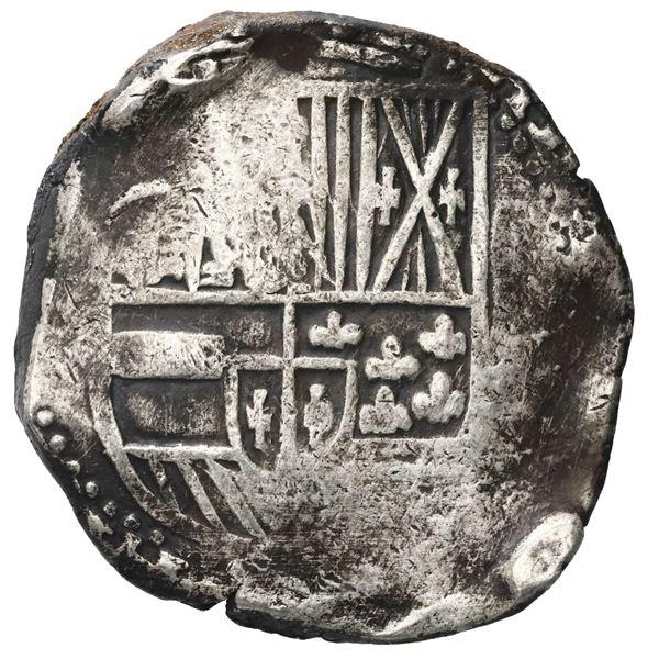 Potosi, Bolivia, cob 8 reales, Philip IV, assayer not visible (1630s).
