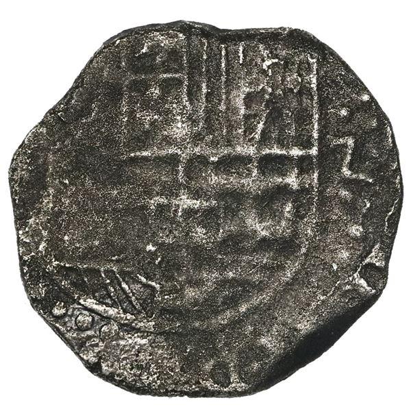 Potosi, Bolivia, cob 2 reales, 1634(T), very rare.