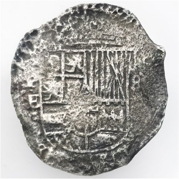 Potosi, Bolivia, cob 8 reales, Philip IV, assayer E (1651-2), no countermark, ex-Ullian/Ruth.