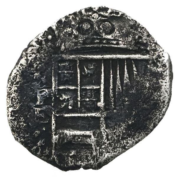 Potosi, Bolivia, cob 1 real, Philip IV, assayer E (1651-2).