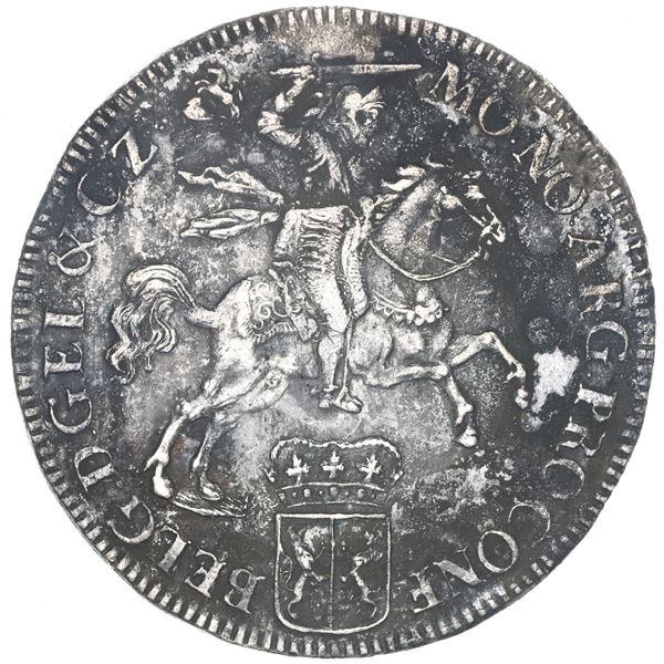 """Gelderland, United Netherlands, """"rider"""" ducatoon, 1733."""