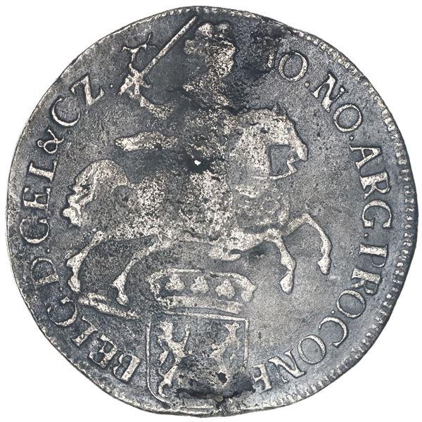 """Gelderland, United Netherlands, """"rider"""" ducatoon, 1730, ex-Ponterio."""