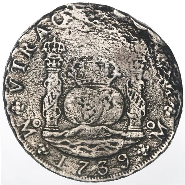 Mexico City, Mexico, pillar 8 reales, Philip V, 1739/7MF.