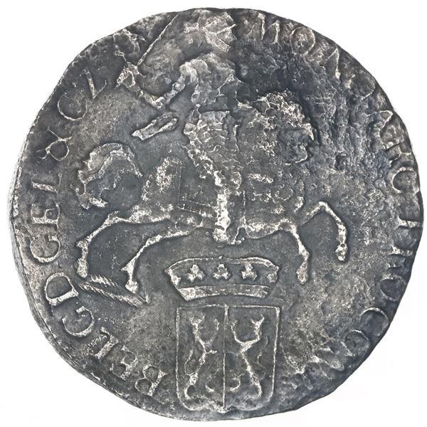 """Gelderland, United Netherlands, """"rider"""" ducatoon, 1732, rare."""