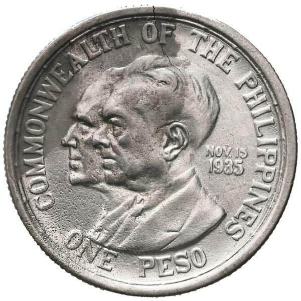 Philippines (Manila Mint), 1 peso, 1936-M, Murphy and Quezon, ex-Jones, ex-Sebring.