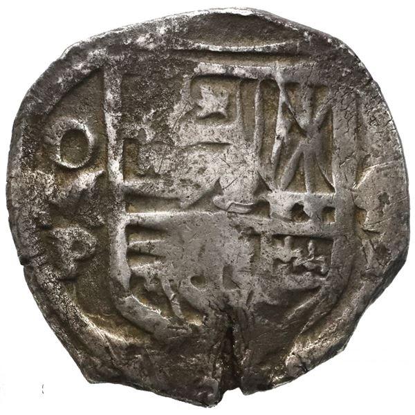 Mexico City, Mexico, cob 4 reales, Philip IV, assayer P (ca. 1634).