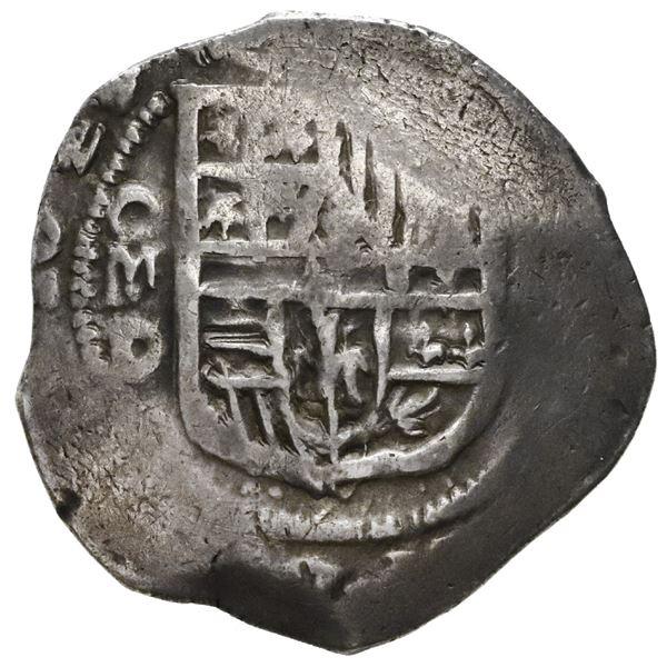 Mexico City, Mexico, cob 2 reales, 1629/8D, very rare.