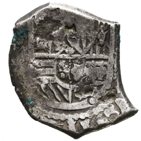 Mexico City, Mexico, cob 2 reales, Charles II, assayer not visible, with small chopmarks as from cir