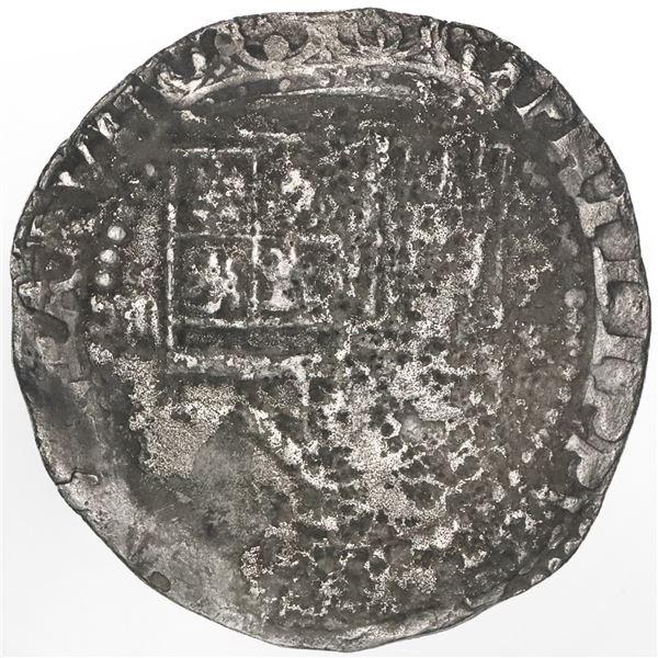 Lima, Peru, 4 reales, Philip II, assayer X below mintmark P to right, very rare.