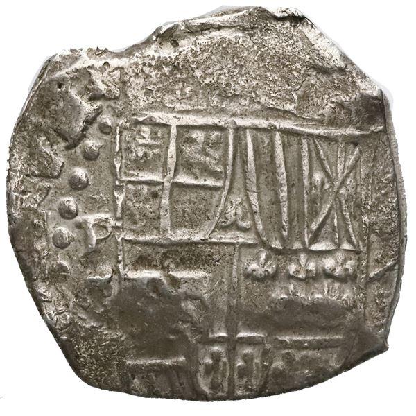 Potosi, Bolivia, cob 8 reales, Philip III, assayer T.