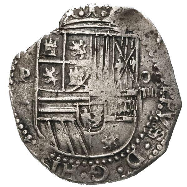 Potosi, Bolivia, cob 4 reales, Philip II, assayer A.