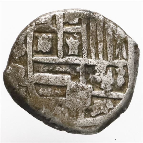 Potosi, Bolivia, cob 1 real, Philip IV, assayer R (Ramirez, 1646-8), very rare.