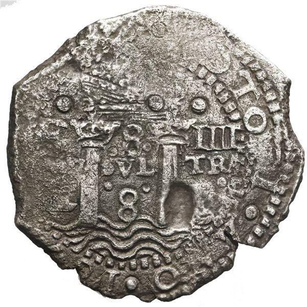 Potosi, Bolivia, cob 8 reales, (1652)E, Transitional Type IV/A, Mastalir Plate.