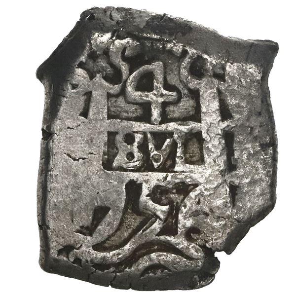 Potosi, Bolivia, cob 4 reales, 1756q.