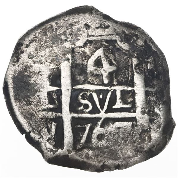 Potosi, Bolivia, cob 4 reales, 1767(V)-Y.