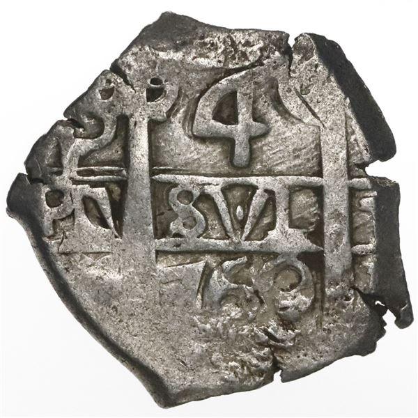Potosi, Bolivia, cob 4 reales, 1769V-(Y).