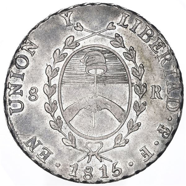 Argentina (River Plate Provinces), 8 reales, 1815F, Potosi mint.