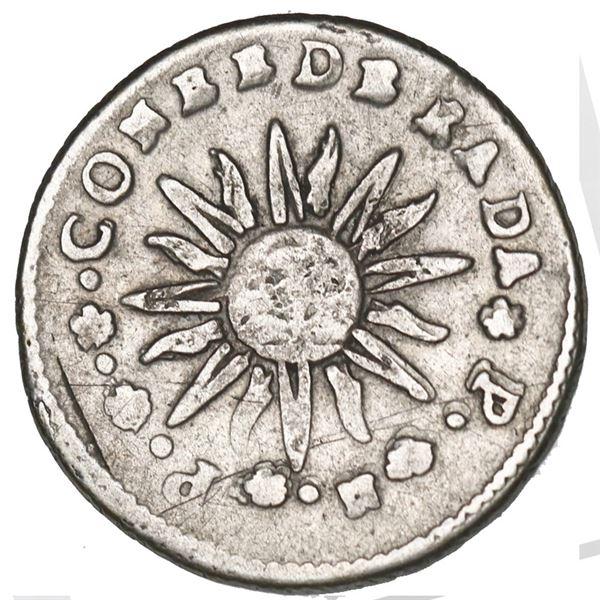 Cordoba, Argentina, 1 real, 1841 *P.*N.*P.*.*, three lines below castle, NGC VF details / obverse sc