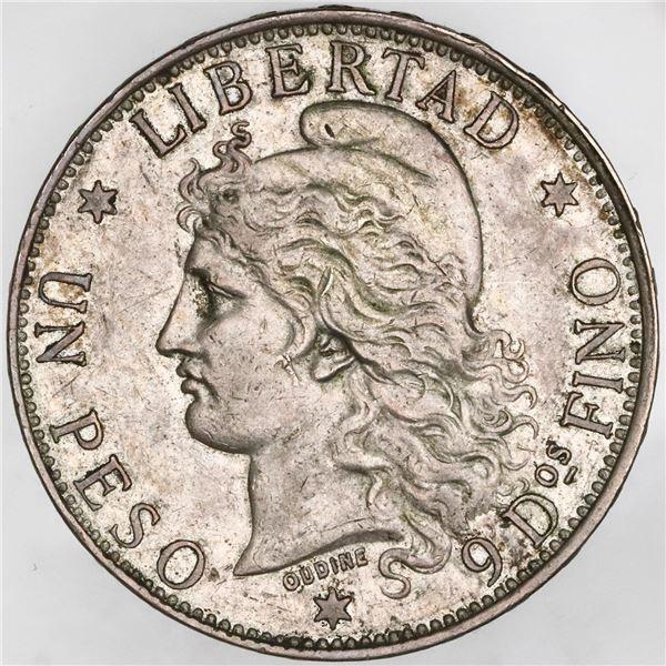 Argentina, 1 peso (patacon), 1882, NGC AU 53.