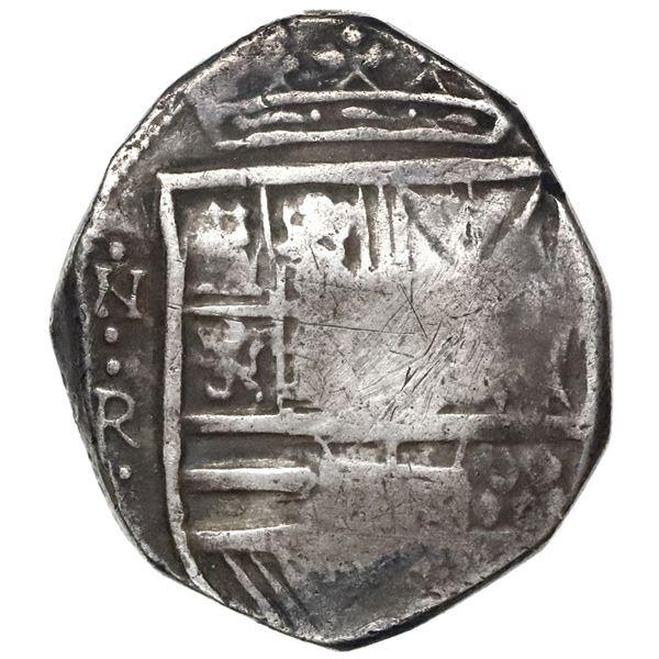 Bogota, Colombia, cob 8 reales, Philip IV, assayer not visible.