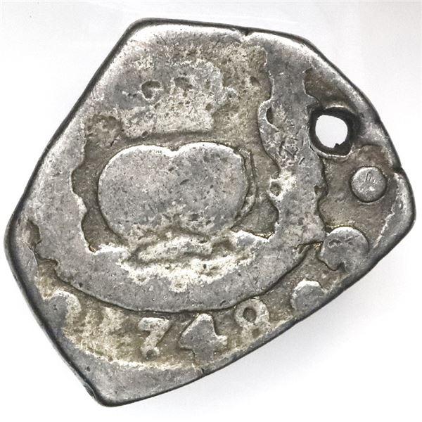 Guatemala, cob 2 reales, 1748J, ex-Jones.