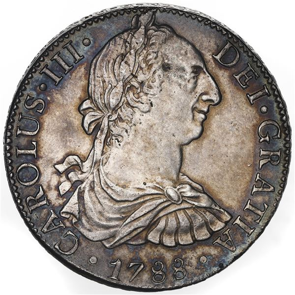 Mexico City, Mexico, bust 8 reales, Charles III, 1788FM, ex-Bevill (Plate Coin).