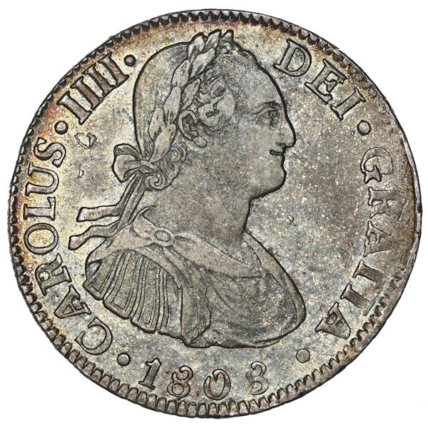 Mexico City, Mexico, bust 2 reales, Charles IV, 1808TH.