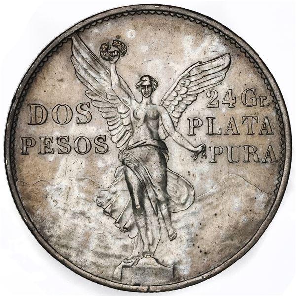 Mexico, 2 pesos, 1921, ex-Jones.