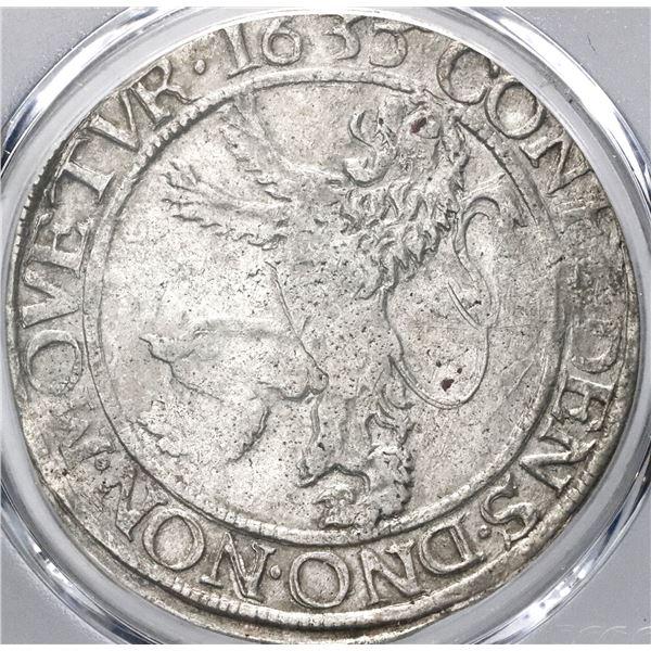 """Gelderland, United Netherlands, """"lion"""" daalder, 1635, PCGS XF45, finest known in PCGS census."""
