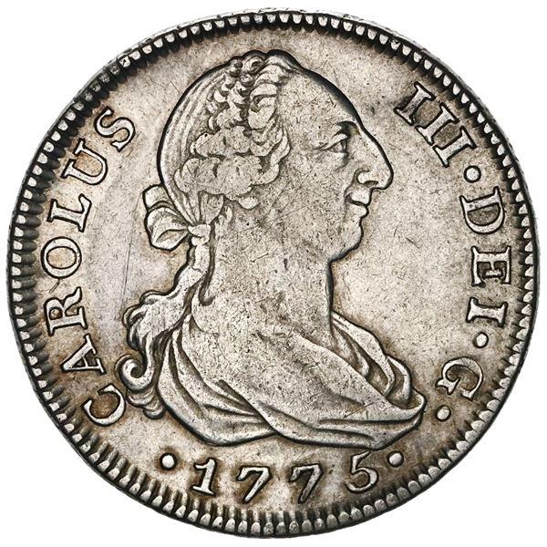 Madrid, Spain, bust 4 reales, Charles III, 1775PJ.
