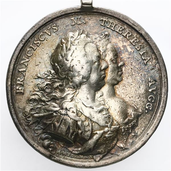Austria, large silver medal, 1760, Francis and Maria Theresa.