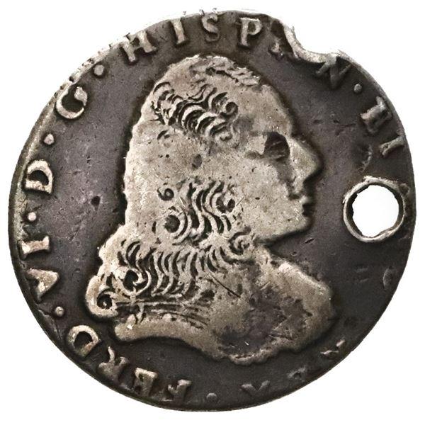 Guatemala, 2R-sized silver proclamation medal, Ferdinand VI (bust of Philip V), 1747.
