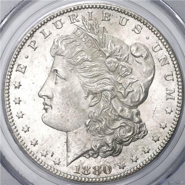 USA (San Francisco Mint), Morgan dollar, 1880-S, PCGS MS64.