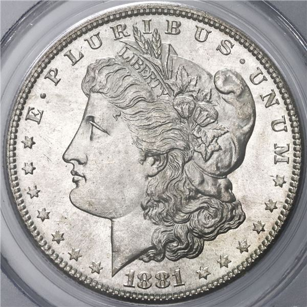 USA (San Francisco Mint), Morgan dollar, 1881-S, PCGS MS64.