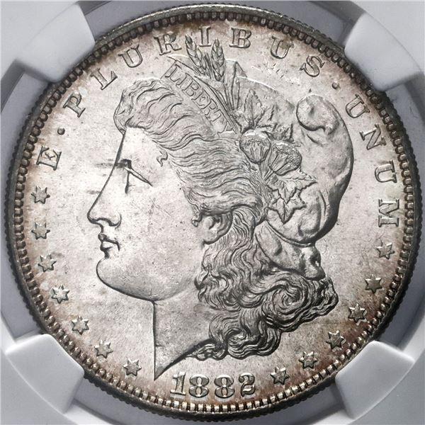 USA (San Francisco Mint), Morgan dollar, 1882-S, NGC MS 64.