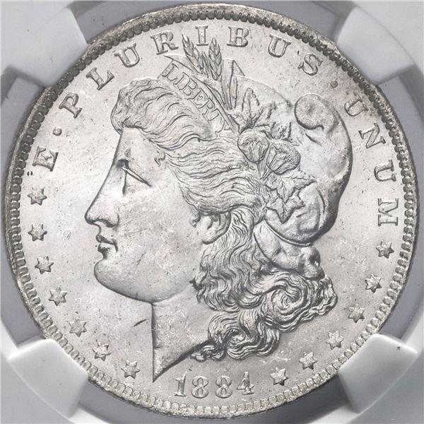 USA (New Orleans Mint), Morgan dollar, 1884-O, NGC MS 64 / Olathe Dollar Hoard from U.S. Treasury Ba