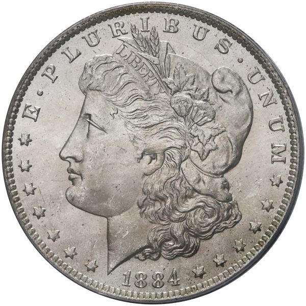 USA (New Orleans Mint), Morgan dollar, 1884-O, PCGS MS64.