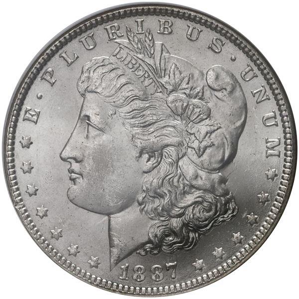 USA (Philadelphia Mint), Morgan dollar, 1887, NGC MS 64.