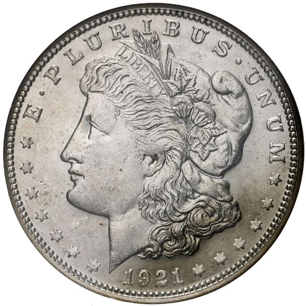 USA (San Francisco Mint), Morgan dollar, 1921-S, NGC MS 63.