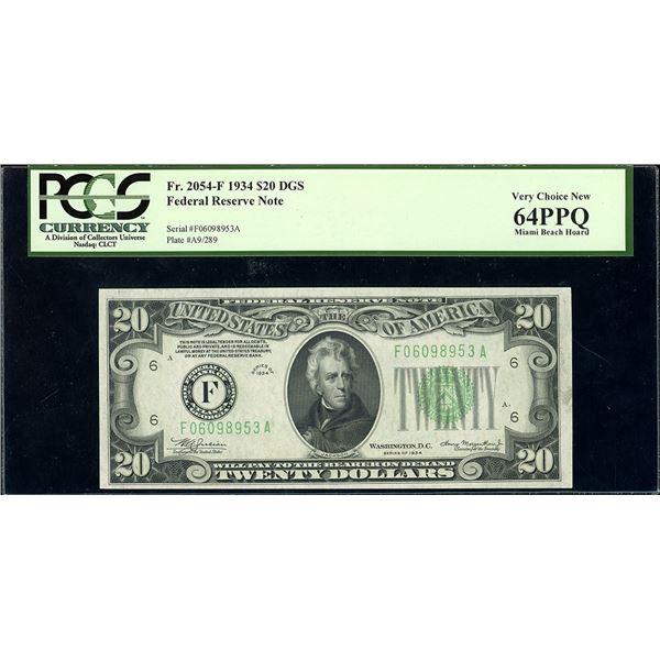 USA, Federal Reserve Bank of Atlanta, $20, series of 1934, serial F06098953A, Julian-Morgenthau, dar